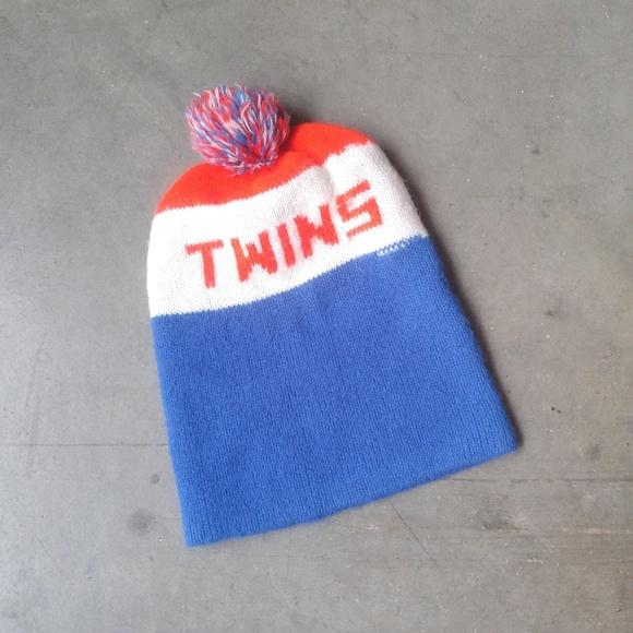 Vintage Accessories - Vintage Minnesota Twins WCCO-FM Winter Pom Hat e0d19e419b0f